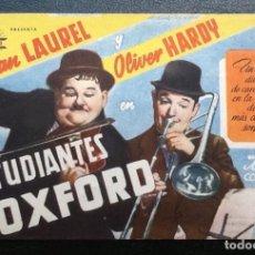 Cine: ESTUDIANTES EN OXFORD, STAN LAUREL Y OLIVER HARDY, CIFESA SENCILLO. Lote 128700863