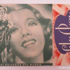 Cine: CANCION DE AMOR DOBLE CON PUBLICIDAD CINEMA CASA DE POBLE. Lote 128702051