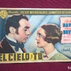 Foglietti di film di film antichi di cinema: EL CIELO Y TÚ. Lote 128760531