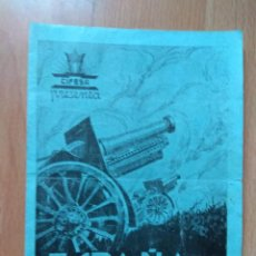 Flyers Publicitaires de films Anciens: PROGRAMA DOBLE DE CINE -ESPAÑA HEROICA. Lote 128907567