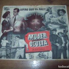 Cine: PROGRAMA DE CINE MUJER OCULTA. IDA LUPINO HOWARD DUFF. CINE VITORIA LLOSETA. DOCU.ATLÉTICO DE MADRID. Lote 128942863