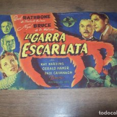 Cine: PROGRAMA DE CINE LA GARRA ESCARLATA. BASIL RATHBONE - NIGEL BRUCE.MERCANTIL CINEMA DE INCA. MALLORCA. Lote 128978399