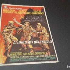 Cine: PROGRAMA DE MANO ORIG - LA BRIGADA DEL DIABLO - SIN CINE. Lote 129018251