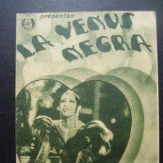 Cine: LA VENUS NEGRA, JOSEPHINE BAKER, CINEMA CENTRE DE VENDRELL, 1936. Lote 129021271