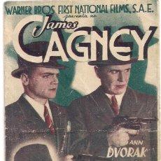 Cine: PROGRAMA DE CINE, CONTRA EL IMPERIO DEL CRIMEN, JAMES CAGNEY, WARNER BROS, S P. Lote 129081923