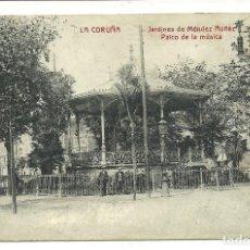 Cine: (PS-57477)POSTAL DE LA CORUÑA-JARDINES DE MENDEZ NUÑEZ.PROGRAMA DE CINE SALON DORE AÑO 1922. Lote 129092387