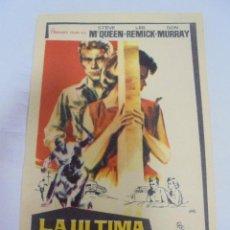 Cine: PROGRAMA DE CINE. S/P. LA ULTIMA TENTATIVA. Lote 129144243