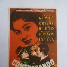 Folhetos de mão de filmes antigos de cinema: CONTRABANDO ANOUK AIMEE FOLLLETO DE MANO ORIGINAL ESTRENO PERFECTO ESTADO. Lote 129157319