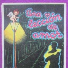 Cine: LOTE 100 PROGRAMAS DE MANO, PROGRAMA CINE, UNA LECCION DE AMOR, IGUALES, L6. Lote 129175479