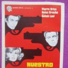 Cine: LOTE 87 PROGRAMAS DE MANO, PROGRAMA CINE, NUESTRO HOMBRE DE VIENA, IGUALES, L8. Lote 129175927