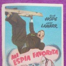Cine: LOTE 87 PROGRAMAS DE MANO, PROGRAMA CINE, MI ESPIA FAVORITA, IGUALES, L9. Lote 129176243
