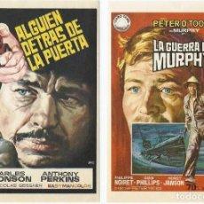Cine: LA GUERRA DE MURPHY + ALGUIEN DETRAS DE LA PUERTA.. Lote 129176291