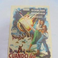 Cine: PROGRAMA DE CINE. C/P. CUANDO LOS MUNDOS CHOCAN. CINES DE SANS. Lote 129206211