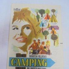 Cine: PROGRAMA DE CINE. C/P. CAMPING. CINES BOHEMIO Y GALILEO. Lote 129209743