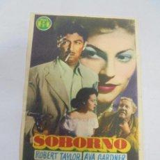 Cine: PROGRAMA DE CINE. C/P. SOBORNO. CINEMA EL MOLINO. Lote 129210071