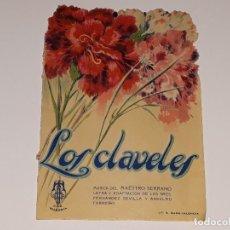 Cinema - ANTIGUO CARTEL PROGRAMA DOBLE DEL MUSICAL - LOS CLAVELES - TEATRO ALKAZAR LA NUCIA ALICANTE AÑO 1936 - 129319587