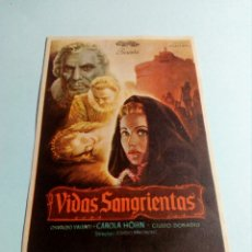 Cine: PROGRAMA DE CINE VIDAS SANGRIENTAS. Lote 129392240