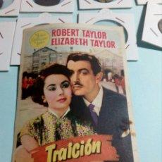 Cine: PROGRAMA DE CINE TRAICION. Lote 129443627