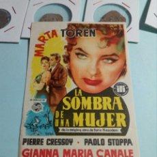 Cine: PROGRAMA DE CINE LA SOMBRA DE UNA MUJER. Lote 129444850