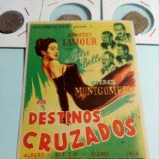 Cine: PROGRAMA DE CINE GEORGE MOTGOMERY EN DESTINOS CRUZADOS. Lote 129445328