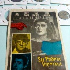 Cine: PROGRAMA DE CINE SU PROPIA VICTIMA. Lote 129446048