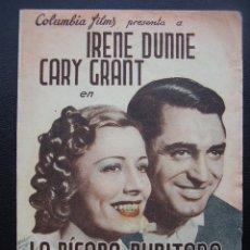 Cine: LA PÍCARA PURITANA, IRENE DUNNE, CARY GRANT, , CINE TIVOLI DEL VENDRELL. Lote 129534219