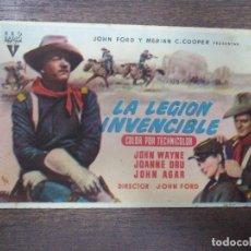 Cine: PROGRAMA DE CINE S/P. LA LEGION INVENCIBLE.. Lote 129601115