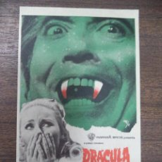 Cine: PROGRAMA DE CINE S/P. DRACULA VUELVE DE LA TUMBA.. Lote 129601279
