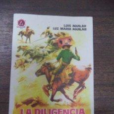 Cine: PROGRAMA DE CINE S/P. LA DILIGENCIA DE LA MUERTE. . Lote 129601991