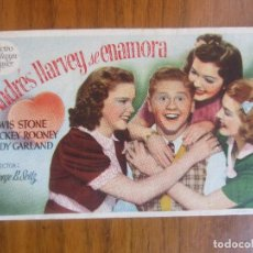 Cine: PROGRAMA DE CINE FOLLETO DE MANO-ANDRES HARVEY SE ENAMORA-AÑOS 40-50 SIN PUBLICIDAD VER FOTO. Lote 129679411