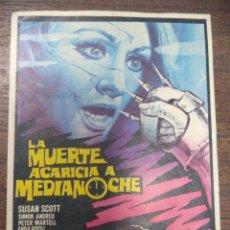 Cine: PROGRAMA DE CINE S/P. LA MUERTE ACARICIA A MEDIANOCHE.. Lote 129681655