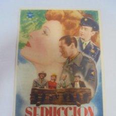 Cine: PROGRAMA DE CINE. C/P. SEDUCCION. CINEMA EL MOLINO. Lote 129699659