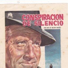 Cine: CONSPIRACIÓN DE SILENCIO CON SPENCER TRACY, ROBERT RYAN AÑO 1959 EN CINEMA LA RAMBLA. Lote 129730371