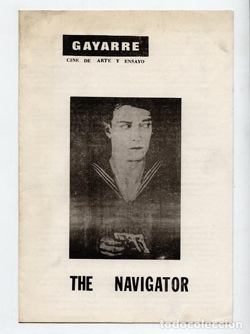 THE NAVIGATOR - EL NAVEGANTE - BUSTER KEATON, DÍPTICO CINE GAYARRE - MADRID, 1970 (Cine - Folletos de Mano - Comedia)