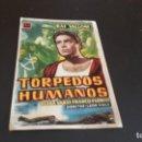 Cine: PROGRAMA DE MANO ORIG - TORPEDOS HUMANOS - CINE DE CADIZ . Lote 130104859