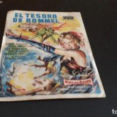 Cine: PROGRAMA DE MANO ORIG - EL TESORO DE ROMMEL - CINE TEATRO PRINCIPAL . Lote 130105367