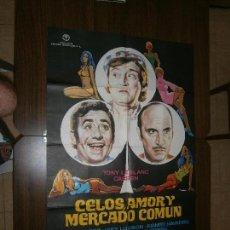 Cine: CARTEL DE CINE ORIGINAL CELOS AMOR Y MERCADO COMUN FERNANDO ESTESO,JUANITO NAVARRO MD 100 X 70 CM. Lote 130171015