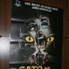 Cine: CARTEL DE CINE ORIGINAL EL GATO DE LAS 9 COLAS MD 100 X 70 CM. Lote 130171163