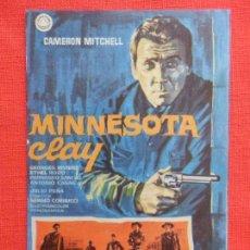 Cine: MINNESOTA CLAY, IMPECABLE SENCILLO, CAMERON MITCHELL, CON PUBLI MONTERROSA 1966. Lote 130269074