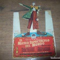 Cine: PROGRAMA DE CINE EL MAYOR ESPECTACULO DEL MUNDO. CHARLTON HESTON. MERCANTIL.NOVEDADES. INCA .. Lote 130291346