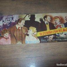 Cine: PROGRAMA DE CINE EL EXTRAÑO CASO DEL DR. JEKYLL. INGRID BERGMAN. TEATRO PRINCIPAL DE INCA. 1947.. Lote 130291378