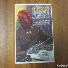 Cine: PROGRAMA DE CINE FOLLETO DE MANO-EL TERROR INVISIBLE- AÑOS 40-50 SIN PUBLICIDAD VER FOTOS. Lote 130352374
