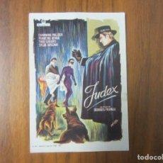 Cine: PROGRAMA DE CINE FOLLETO DE MANO-JUDEX- AÑOS 40-50 SIN PUBLICIDAD VER FOTOS. Lote 130353546