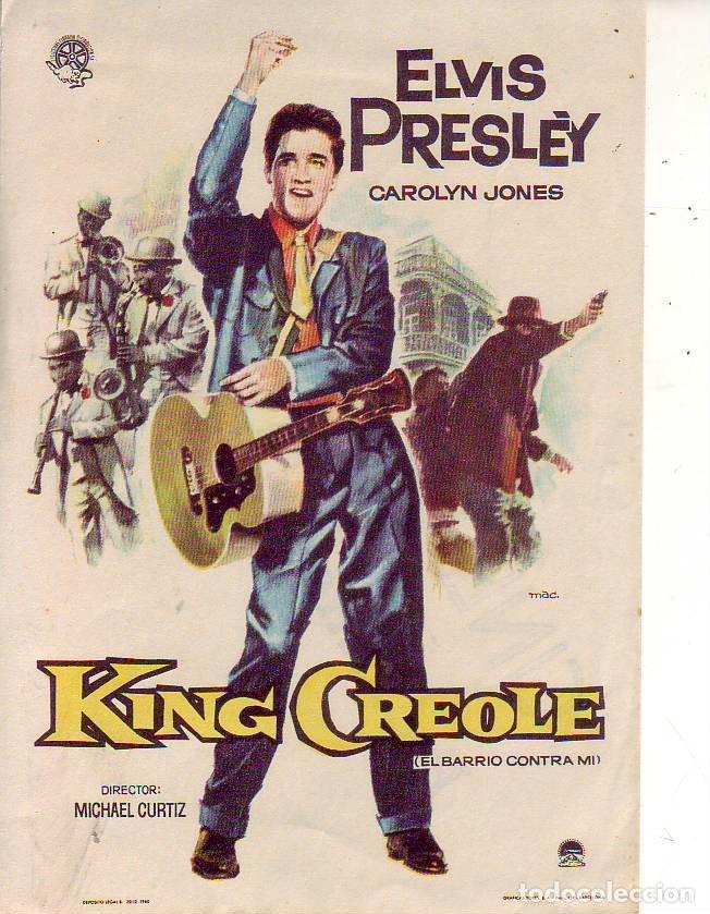KING CREOLE - ELVIS PRESLEY (Kino - Filmprogrammhefte - Musicals)