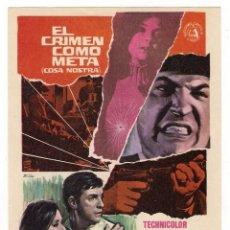 Cine: -72063 PROSPECTO EL CRIMEN COMO META, CON EFREM ZIMBALIST Y WALTER PIDGEON, WB, CINE. Lote 130574078