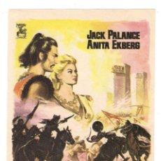 Cine: -72065 PROSPECTO LOS MONGOLES, CON JACK PALANCE Y ANITA EKBERG, CINE. Lote 130574342