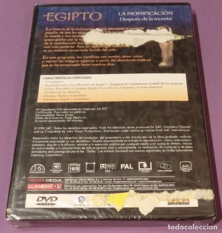 Cine: DVD EGIPTO - LA MOMIFICACIÓN. DESPUÉS DE LA MUERTE [PRECINTADO] - Foto 2 - 130777944
