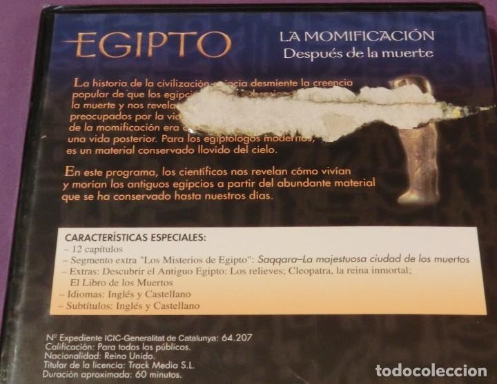 Cine: DVD EGIPTO - LA MOMIFICACIÓN. DESPUÉS DE LA MUERTE [PRECINTADO] - Foto 3 - 130777944
