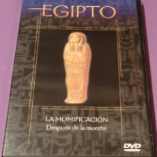 Flyers Publicitaires de films Anciens: DVD EGIPTO - LA MOMIFICACIÓN. DESPUÉS DE LA MUERTE [UN SÓLO VISIONADO]. Lote 130778052