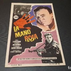Cine: PROGRAMA DE MANO ORIG - LA MANO ROJA - CINE DE ZARAGOZA . Lote 130872208